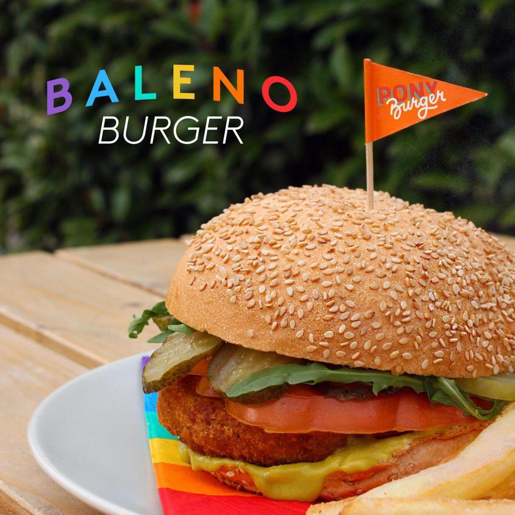 edoné pony burger vegan